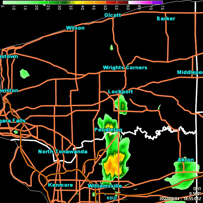 GRLevel3 radar from NWS station KBUF